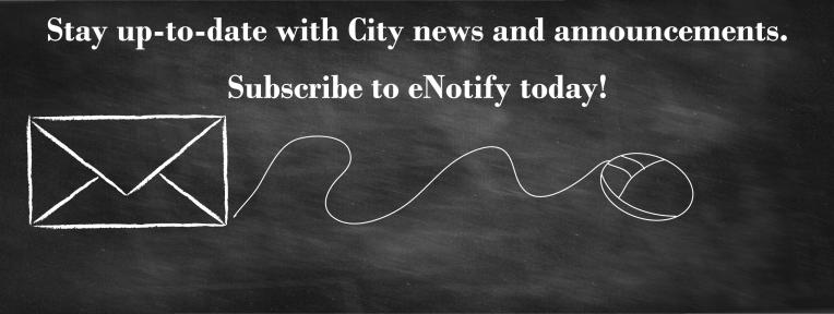 Sign up for eNotify