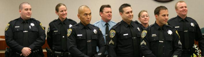 Los Altos Police Swearing-In and Promotional Ceremony, Feb. 2014
