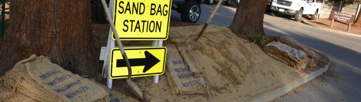 Sandbag station at 707 Fremont Ave