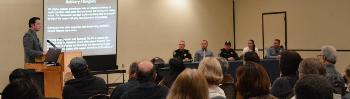 Public safety community meeting at Los Altos Youth Center