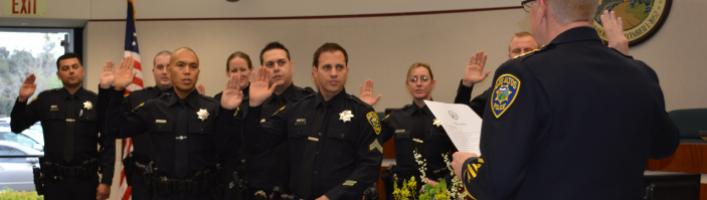 Police Swearing In Ceremony