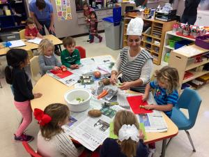 Cooking activity in Kinder Prep
