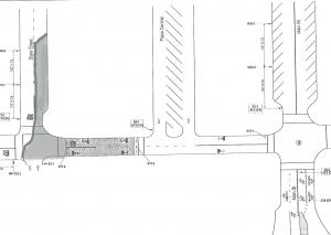 Map of First Street closure: State Street to Plaza Central