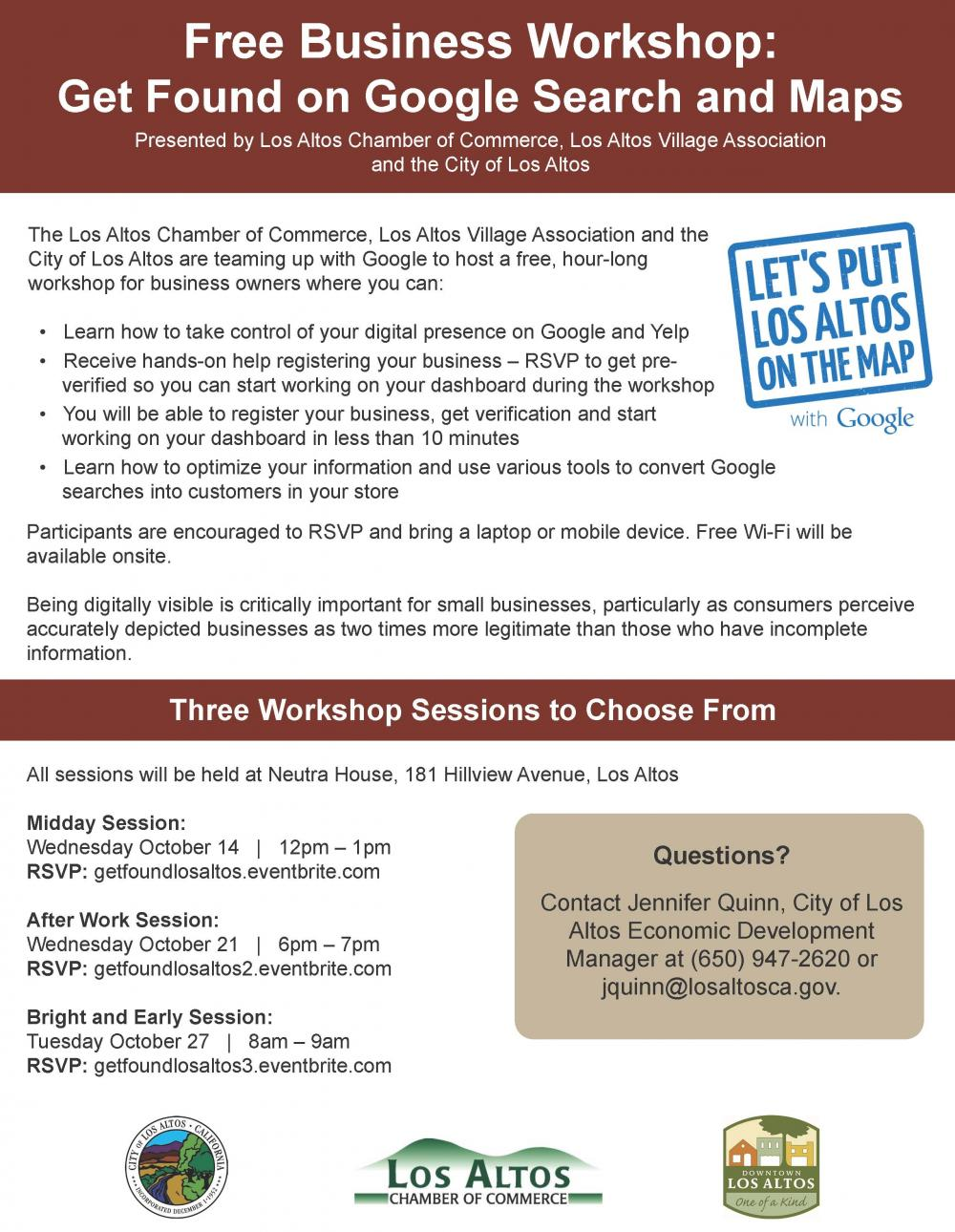 Business Workshop Get Found On Google Search And Maps City Of Los